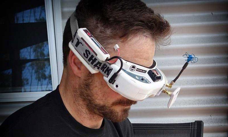 Dron okuliare FPV