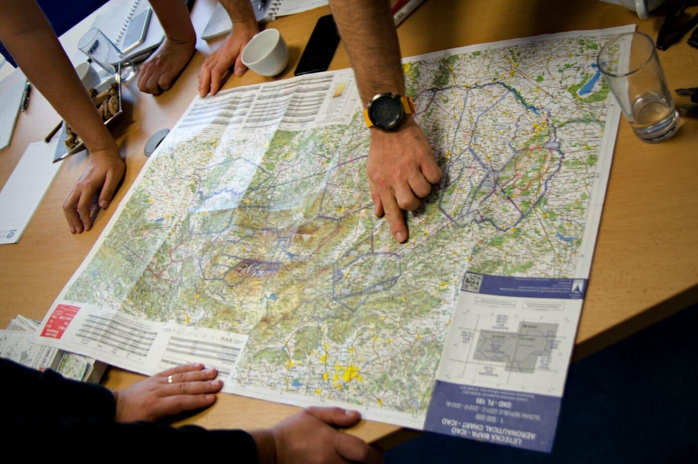 Dron mapa letové zóny