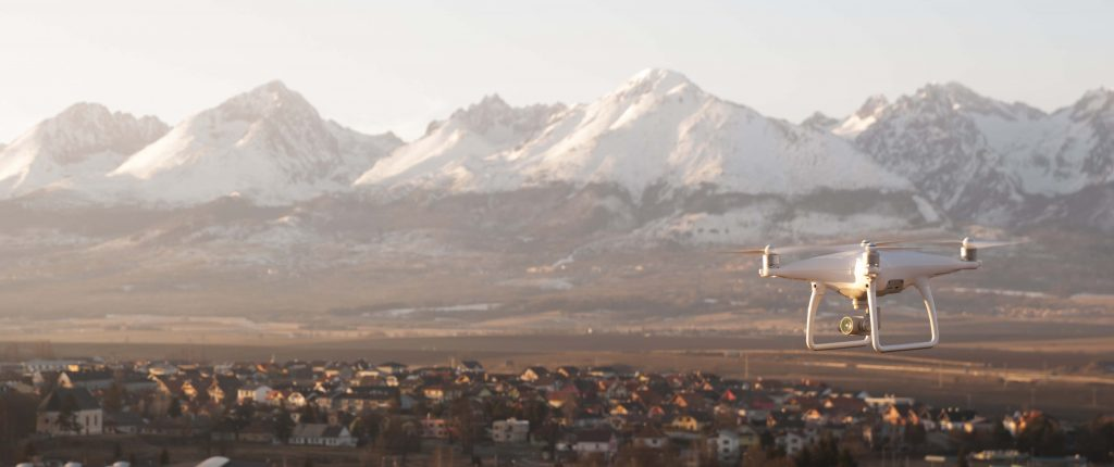 Dron záber tatry panoráma