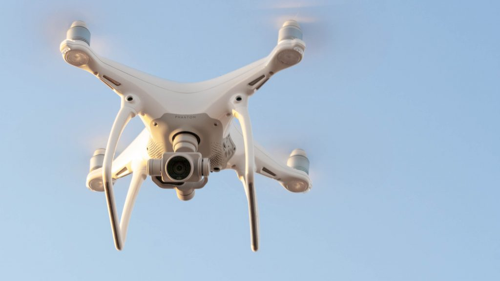 Skúška pre lietanie s dronom