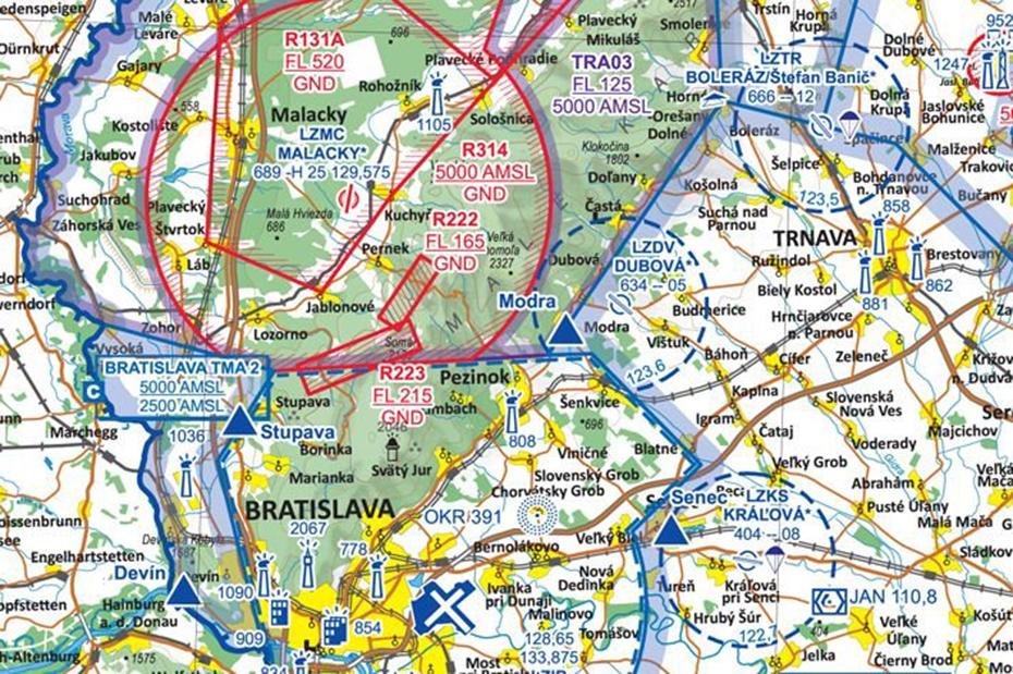 Mapa letové preistory pre drony