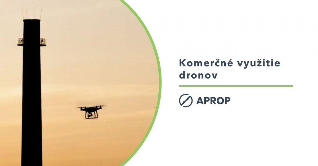 Titulný obrázok pre článok o možnostiach a náležitostiach komerčného využitia dronov na slovensku