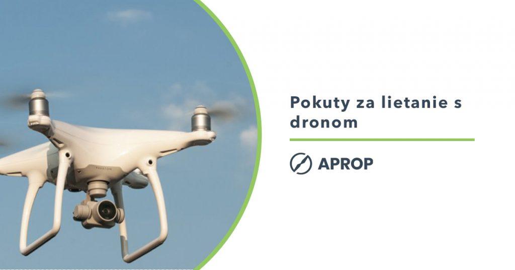 Titulný obrázok k článku o pokutách za lietanie s dronom bez licenice a povolenia