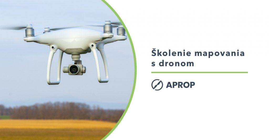 Titulný obrázok k článku o školení mapovania a fotogrametrie s dronom