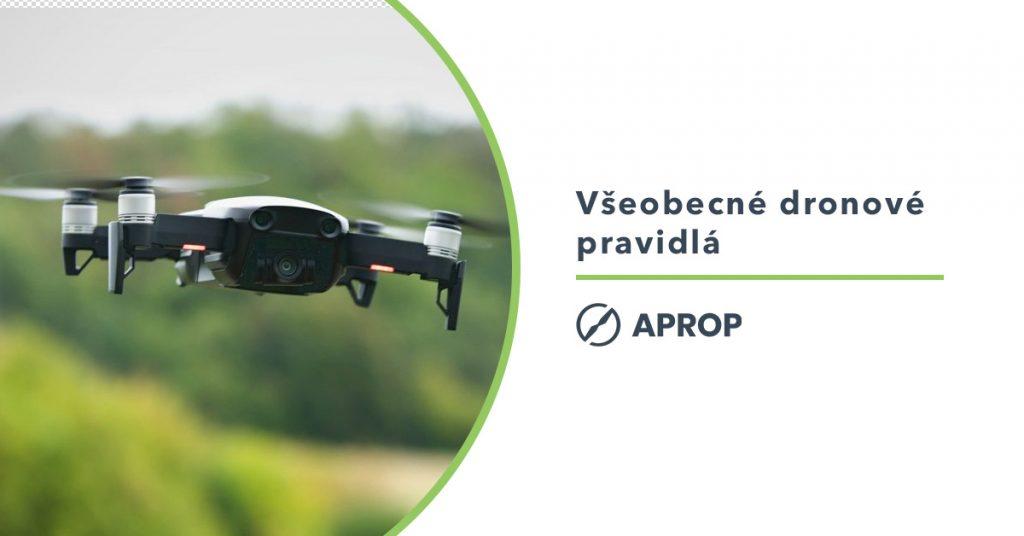 Titulný obrázok vysvetľujúci všeobecné pravidlá pre lietanie s dronmi