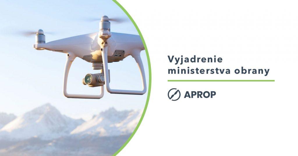Titulný obrázok k vyjadreniu ministerstva obrany k lietaniu s dronmi na Slovensku