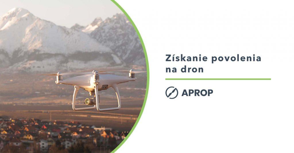 Titulný obrázok s grafikou pre získanie povolenia na lietanie s dronom na slovensku