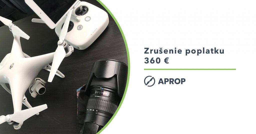 Titulný obrázok pre článok k zrušeniu poplatku pre komerčné využívanie dronu na slovensku