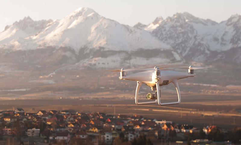 Dron záber Tatry